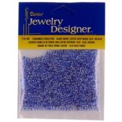 10/0 Seed Beads, Inside Colour Lustre, Dark Blue, 20 Gramme Pkg
