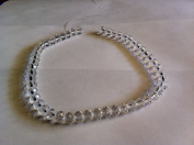 Chinese Crystal Glass Beads Faceted Rondelle, 8mm Crystal Clear, sold per 12-inch strand.