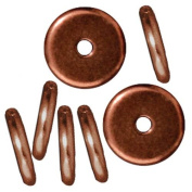 Copper Plated Lead-Free Pewter Disc Heishi Spacer Beads 8mm