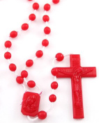 Rosarybeads4u Red Plastic Prison Issue Rosary Beads Rosaries