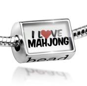 Bead I Love Mahjong - Charm Fit All European Bracelets , Neonblond
