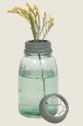 Midget Pint Mason Jar with Chicken Wire Flower Frog