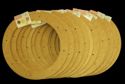 12 Pack, 30cm Biodegradable Floral Craft Ring, Ez Glueable Wreath Form, for Photo Frame, Candle Ring, Etc