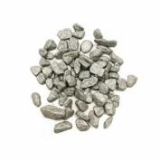 Vase Filler Rocks, Silver, 2 lbs per bag