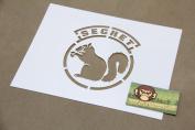 Secret Squirrel Stecil