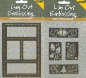 Ecstasy Crafts Layout Embossing Stencil - Bells
