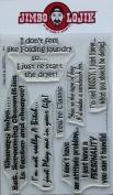KellyCraft Jimbo Lojik Polymer Stamp, Set A