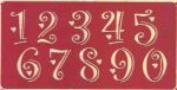 Ecstasy Crafts Monogram Template Regular Numbers