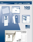 Ace Label Blank Printable Bookmark Sheets 4-Up, 5.7cm x 15cm , White, 100 Sheets, 4 per Sheet, 77022L