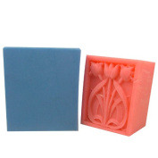 Thick Rectangular Flower Soap Bar Mould