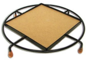 10cm Square Trivet With Round Frame