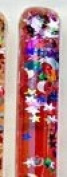 Red Stars & Moon Glitter Wand for Kaleidoscopes or Party Favour 28cm