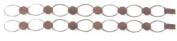 Antique Copper Plate Hammered Link Bracelet - 2 Pack
