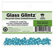 Eco Green Crafts 8Mm Recycled Glass Glintz, Aqua