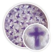 Purple & White Crosses Millefiori - 96 Coe