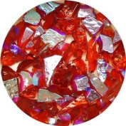 90ml Red/Cyan Dichroic Frit On Transparent Light Cherry Red - 90 Coe