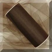 30cm Nylon Tulle Fabric Brown 25 Yards