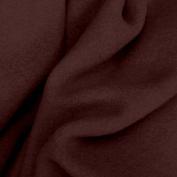 Crafty Cuts 1.5 Yards Fleece Fabric, Chocolate Brown Solid