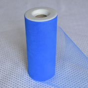 Premium Tulle on Spool (15cm Wide x 25 Yards Long) - Blue