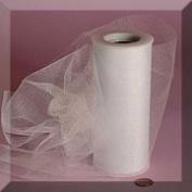 White 15cm X 25 Yds Glimmer/shimmer Tulle Roll