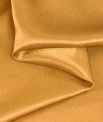 Dark Gold Crepe Back Satin Fabric - by the Yard