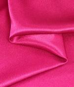 Fuchsia Crepe Back Satin Fabric - by the Yard