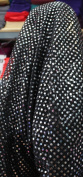 SMALL DOT CONFETTI SEQUIN FABRIC 110cm WIDE SOLD BY THE YARD BLACK/SILVER