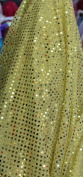 SMALL DOT CONFETTI SEQUIN FABRIC 110cm WIDE SOLD BY THE YARD GOLD
