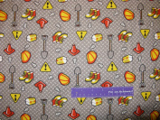 110cm Wide Construction FLANNEL Fabric BY THE HALF YARD