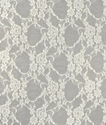 Ivory Stretch Lace Fabric - by the Yard