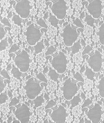 White Stretch Lace Fabric - by the Yard