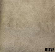 "150cm MICRO SUEDE FABRIC ""OLIVE"" FOR UPHOLSTERY (PASSION SUEDE) BTY"