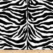 Poly/Cotton Twill Zebra Print Black/White Fabric