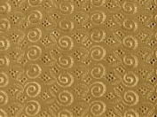 Gold Allover Cotton Eyelet Embroider Fabric 110cm By the Yard