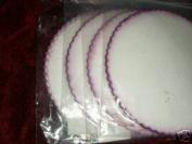23cm Purple Edge Spun Fabric not Organza , not Tulle