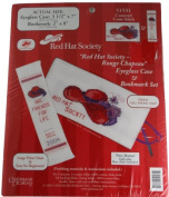 Candamar Designs Red Hat Society Eyeglass Case and Bookmark Set Kit