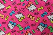 Hello Kitty 5 Print Cotton Fabric 110cm /110cm Width By The Yard