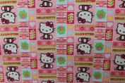Hello Kitty 1 Print Cotton Fabric 110cm /110cm Width By The Yard