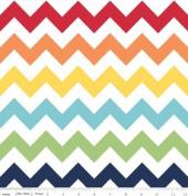 Chevron Stripe Rainbow Flannel Fabric SKU F320-01