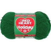Coats yarn Red Heart Holiday Yarn, Green with Green Metallic