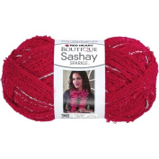 Red Heart Boutique Sashay Sparkle Yarn RED HOT Scarf Yarn