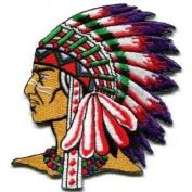 Native American Indian Chief Retro Applique BIG Xl Applique Iron-on Patch