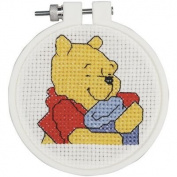 Pooh's Hunny Mini Counted Cross Stitch Kit