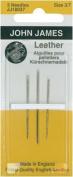 John James Leather Needles Assorted Sizes 3/7 3ct