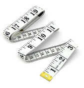 Flexible Tailor Sewing Cloth Ruler Tape Measure 60 Inch 150cm White