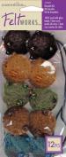 Dimensions Feltworks Bead Jewellery Kit, 10-Pack, Blue/Brown