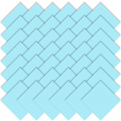 Moda Bella Solids Robins Egg Blue 9900-85 Charm Pack 13cm Quilt Squares