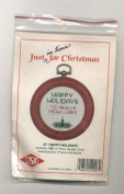 Happy Holidays Christmas Counted Cross Strich Ornament Kit