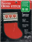 20cm Christmas Gift Sock Cross Stitch Kit