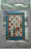 ALL HEARTS GO HOME FOR CHRISTMAS - QUILTING PATTERN 120cm X 150cm FROM HEART TO HAND #H2H420